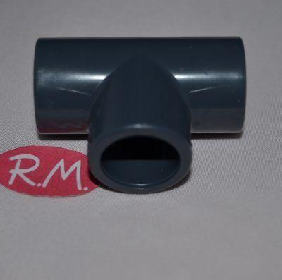 Te 90° para encolar en tubo de PVC gris Ø 16 mm