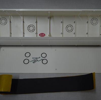 Caja pre-instalación aire acondicionado 470x130x67mm