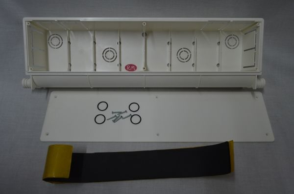 Caja pre instalaci n aire acondicionado 470x130x67mm for Caja aire acondicionado