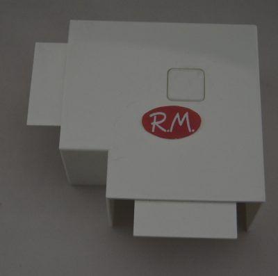 Angulo plano canaleta con tapa Escconduct 60 x 40 mm