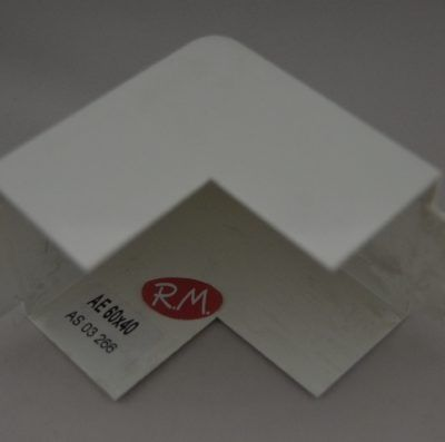 Angulo exterior canaleta con tapa Escconduct 60 x 40 mm
