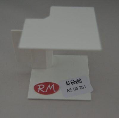 60x40mm Ángulo interior canaleta blanca con tapa Escconduct