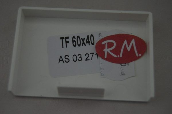 60x40mm Tapa final canaleta blanca con tapa Escconduct