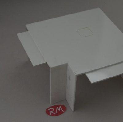 Angulo plano canaleta con tapa Escconduct 80 x 60 mm