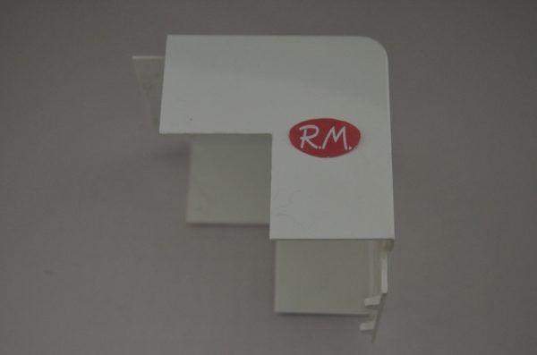 Angulo exterior canaleta con tapa Escconduct 80 x 60 mm