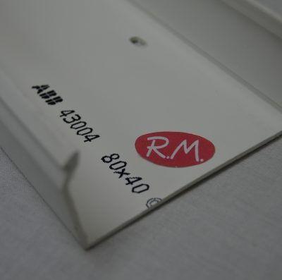 80x40mm Canaleta blanca con tapa Escconduct