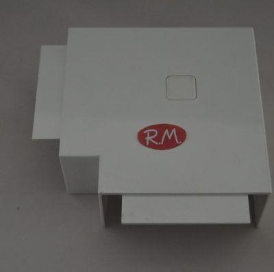 80x40mm Ángulo plano canaleta blanca con tapa Escconduct
