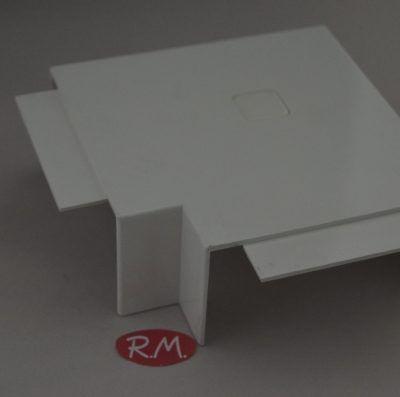 Angulo plano canaleta con tapa Escconduct 80 x 40 mm