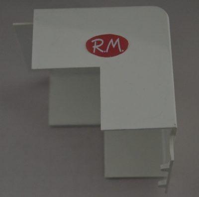 Angulo exterior canaleta con tapa Escconduct 80 x 40 mm