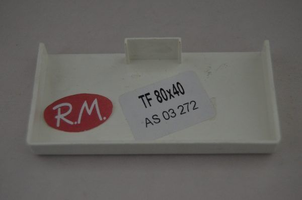 80x40mm Tapa final canaleta blanca con tapa Escconduct