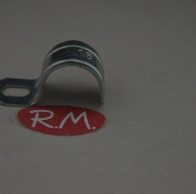 Grapa 1 pata para tubo Ø 16 mm zincada
