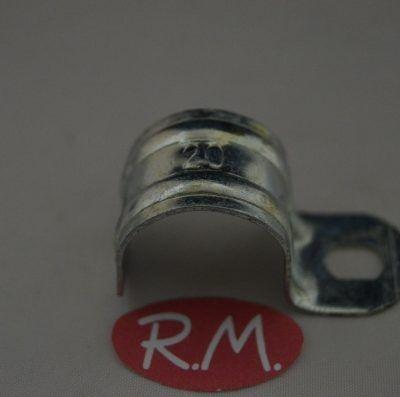 Grapa 1 pata para tubo Ø 20 mm zincada