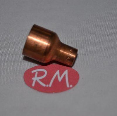 """Reducción cobre aire acondicionado hembra 1/2"""" - 1/4"""" para soldar"""