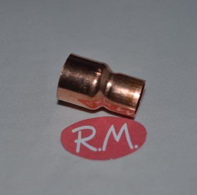 """Reducción cobre aire acondicionado hembra 1/2"""" - 3/8"""" para soldar"""