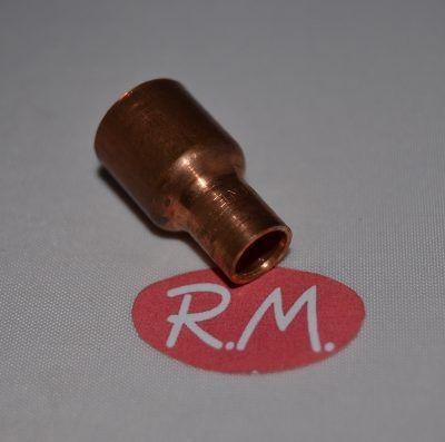 """Reducción cobre aire acondicionado macho 1/2"""" hembra 3/8"""" soldar"""