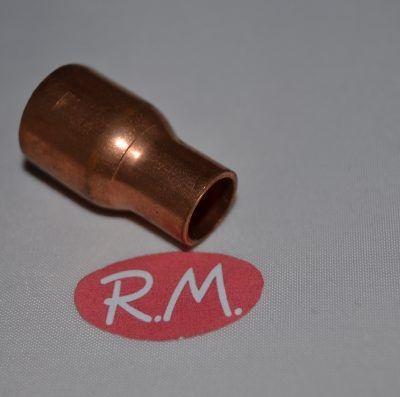 """Reducción cobre aire acondicionado macho 5/8"""" hembra 3/8"""" soldar"""