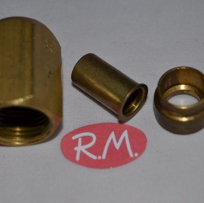 "Casquillo-tuerca-manguito para tubo de cobre 1/2"""