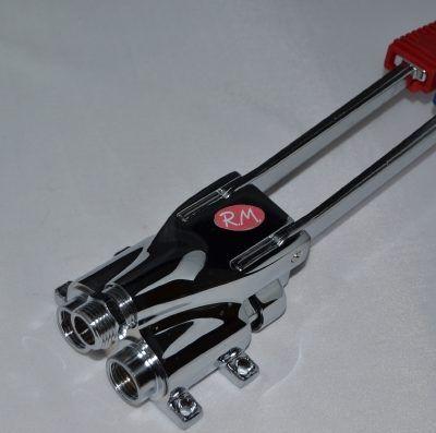 Grifo mezclador a pedal de 2 aguas para fijar a suelo o pared