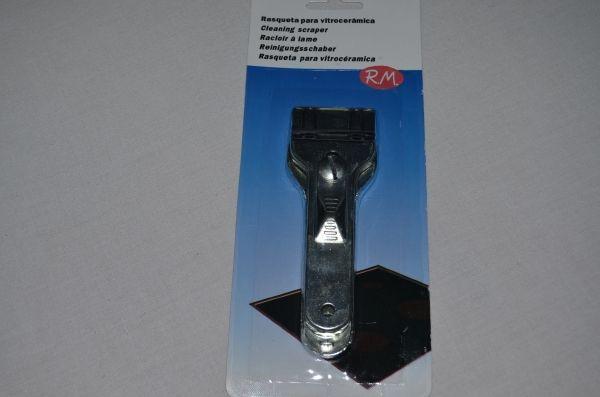 Rasqueta metálica para vitrocerámica con cuchilla tipo better