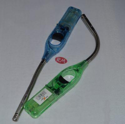 Encendedor de gas transparente con tubo flexible