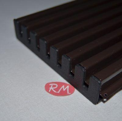 Rejilla ventilación horno marrón 60 x 12cm