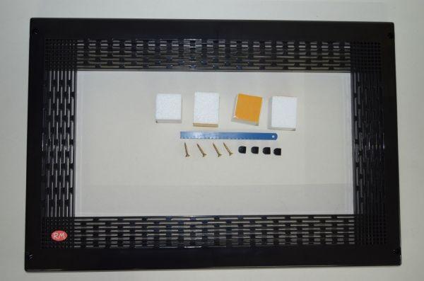 Marco para microondas universal 60 x 40 cm negro
