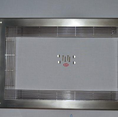 Marco para microondas universal 60 x 40 cm inox mate
