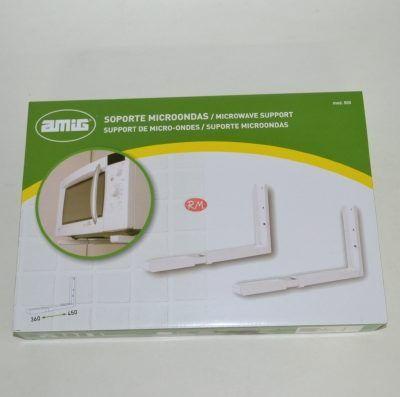 Soporte horno microondas blanco extensible