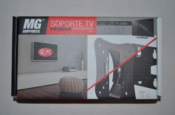 "Soporte televisión LCD acero plata 10 a 30"""