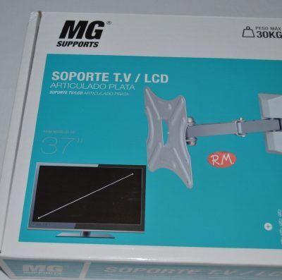 """Soporte televisión LCD acero plata 37"""""""