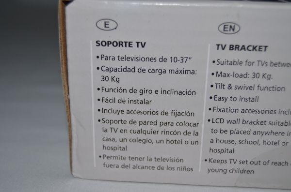 """Soporte articulado televisión LCD negro 10 - 37"""""""