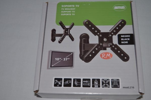 "Soporte articulado televisión LCD negro 10 a 37"""