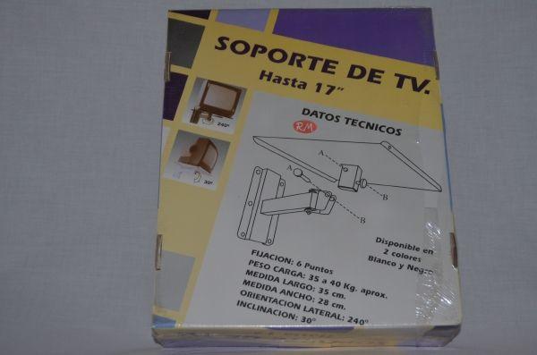 """Soporte articulado televisión negro hasta 17"""""""