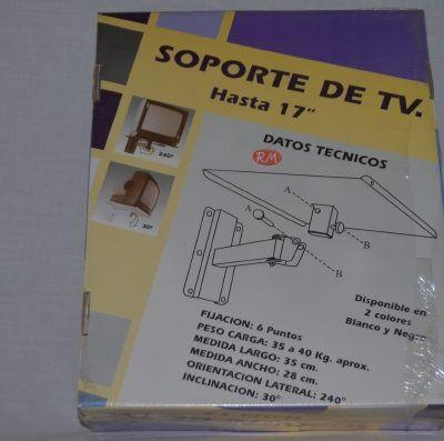 """Soporte articulado televisión blanco hasta 17"""""""
