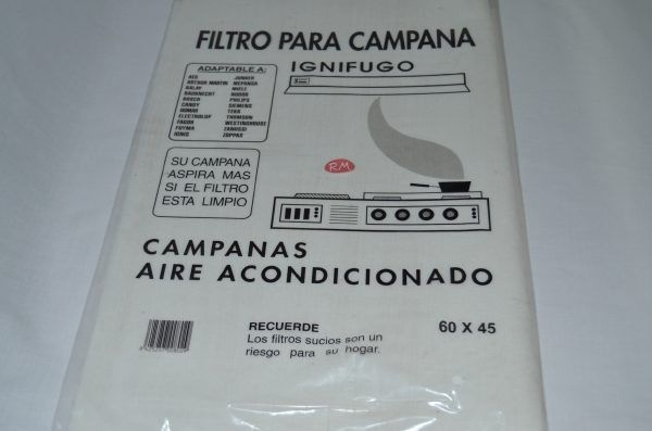 Filtro papel campana extractora 600 x 450 mm
