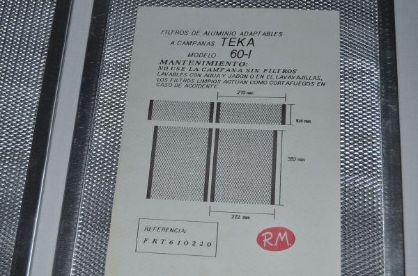 Filtro aluminio campana Teka 60I 222x392 mm 99313824