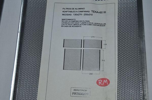 Filtro aluminio campana Teka CLT6000 99313812