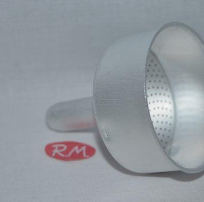 Embudo cafetera aluminio Oroley de 6 taza Ø 66 mm