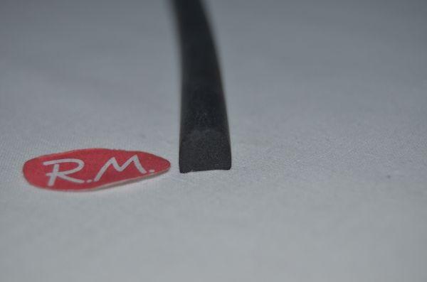 Goma negra olla a presión Bra Perfil 8x9 mm Longitud 840 mm