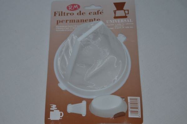 Filtro permanente cafetera goteo Ø 127 mm con cuchara
