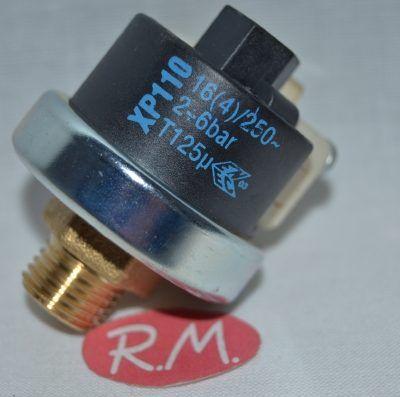 Presostato plancha vapor 1/4 rosca gas 4 bars de presión