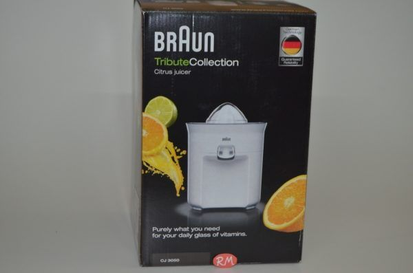 Braun exprimidor CJ3050 blanco automático