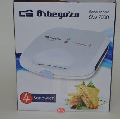 Orbegozo sandwichera SW7000 de 4 unidades blanca