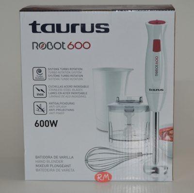 Taurus batidora brazo con accesorios robot 600w inox