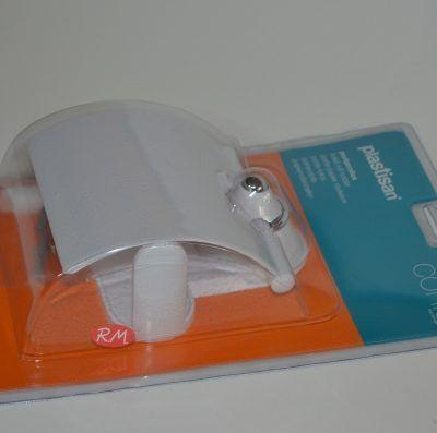 Portarrollo WC plastisan conic blanco - cromo 87713