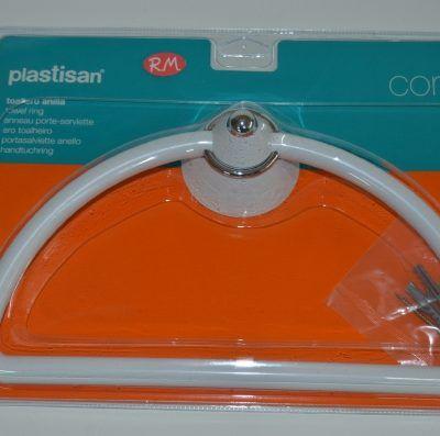 Toallero anilla plastisan conic blanco - cromo 87113
