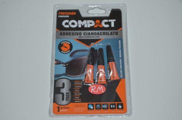 Adhesivo cianocrilato compact fix trio 1gr