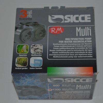 Bomba sumergible para estanques fuentes y acuarios SICCE multi 1300