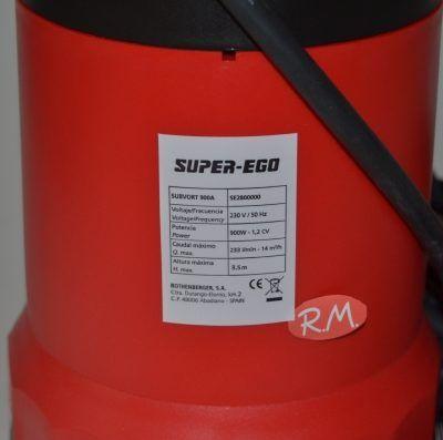 Bomba sumergible achique aguas sucias Super ego subvort 900 a