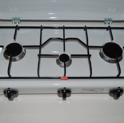Cocina sobremesa 3 fuegos con tapa